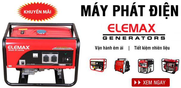 khuyến mãi mua máy phát điện Elemax 2019